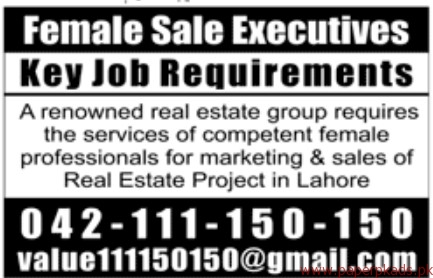 Female Executives Required