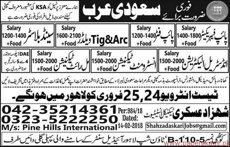 Pipe Fabricators Pipe Fitters Welders Technicians Jobs in Saudi Arabia