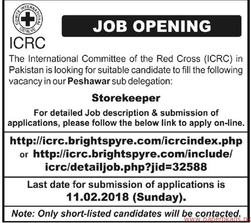 The International Committee of the Red Cross ICRC Jobs 2018-2
