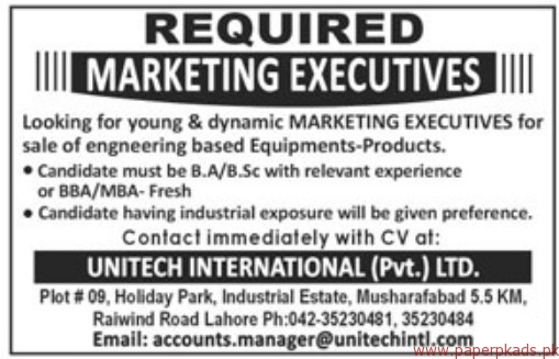 UNITECH International Private Limited Jobs 2018