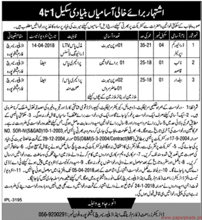 Agriculture Department Jobs 2018