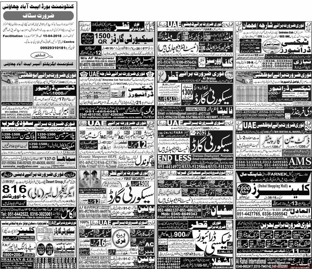 Multiple Jobs - Express Jobs ads 11 April 2018 Latest