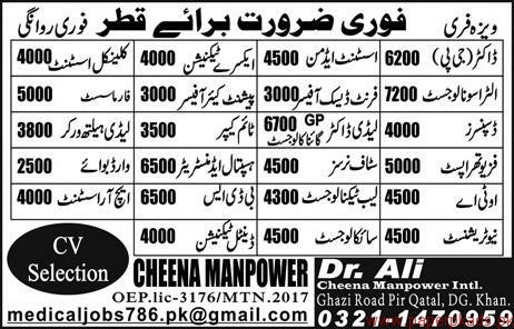 Doctors Technicians Officers and Other Jobs