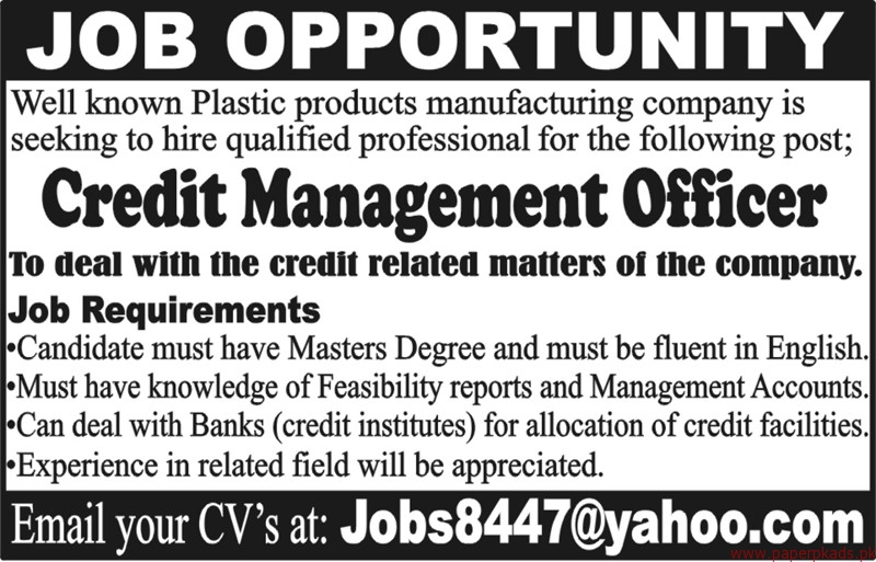 Plastic Products Manufacturing Company Jobs 2018