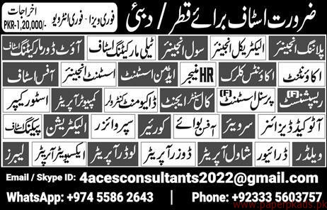 Accountant HR Manager Civil Engineer Jobs in QATAR