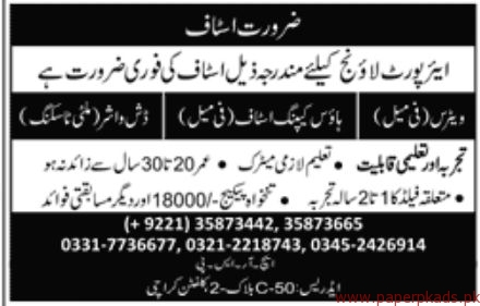Air Port Staff Required 2018 Latest