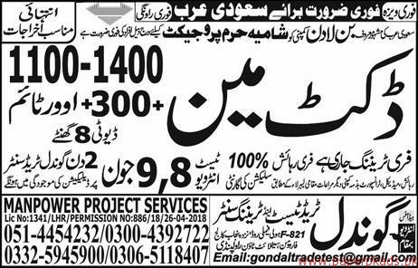 Ductman Required for Saudi Arabia