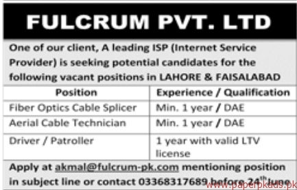 Fulcrum Private Limited Jobs 2018