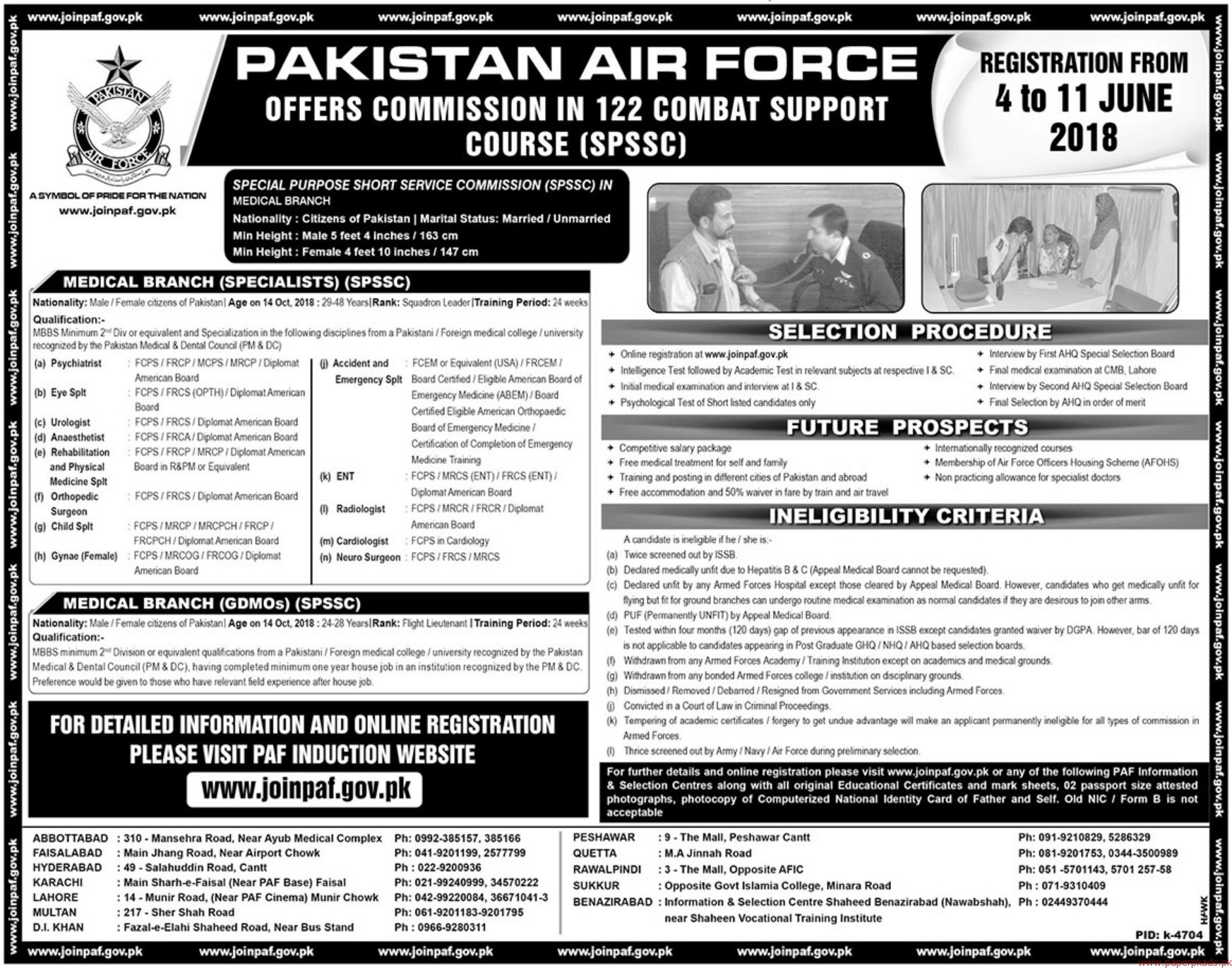 Pakistan Air Force Jobs 2018 Latest