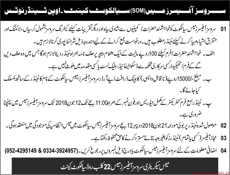 Services Officers Required
