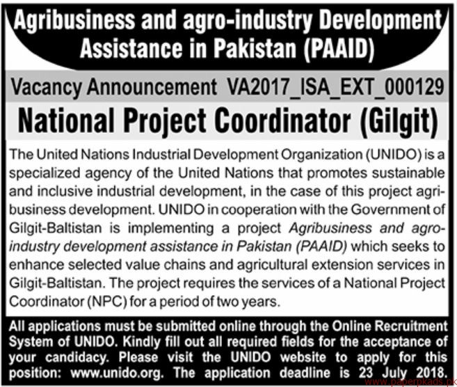 Agribusiness and Agro-industry Development Assistant in Pakistan PAAID Jobs 2018 Latest