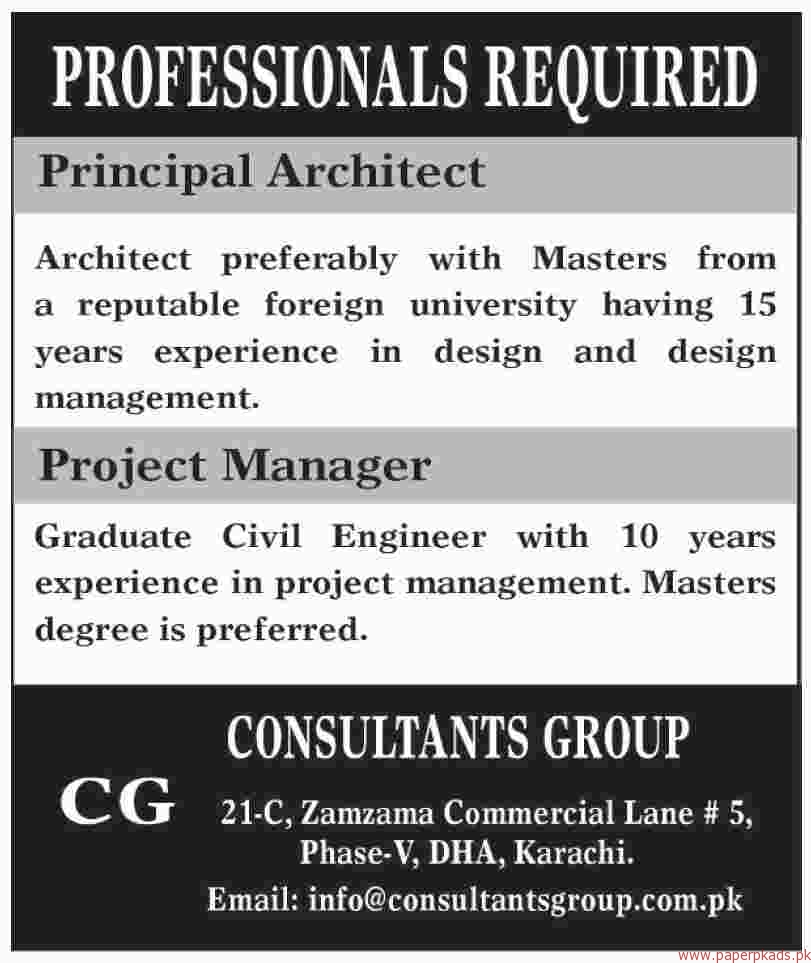 Consultants Group Jobs 2018 Latest