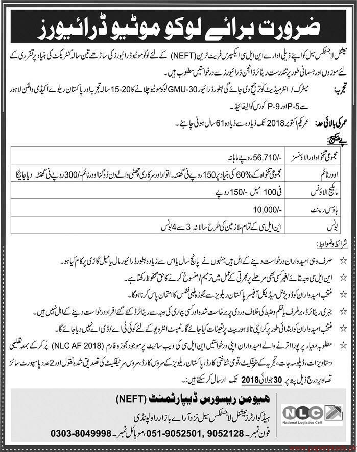 National Logistic cell Jobs 2018 Latest