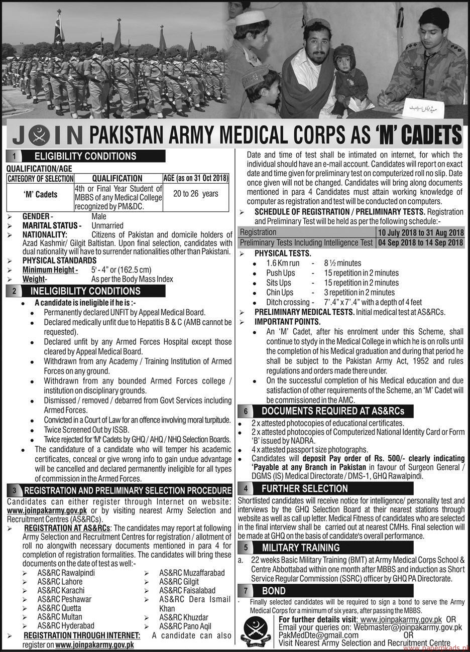 Pakistan Army Jobs 2018 Latest