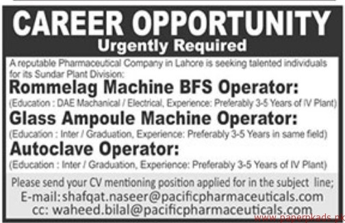 Reputable Pharmaceutical Company Jobs 2018 Latest