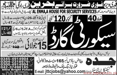 Security Guards Required for Bahrain