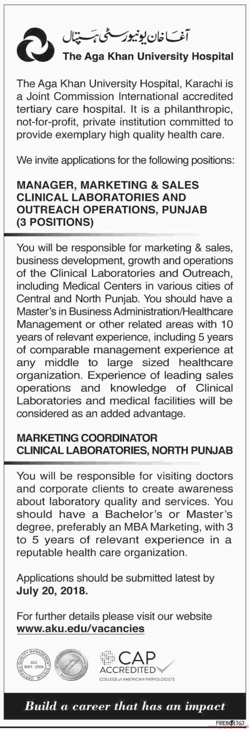 The AGA Khan University Hospital Jobs 2018 Latest