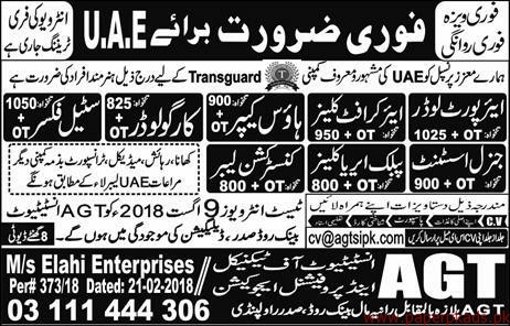 Air Port loaders House Keeper and Other Jobs in UAE
