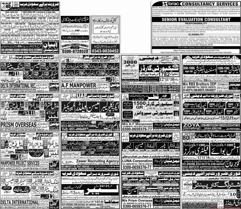 Multiple Jobs - Express Jobs ads 09 August 2018 Latest