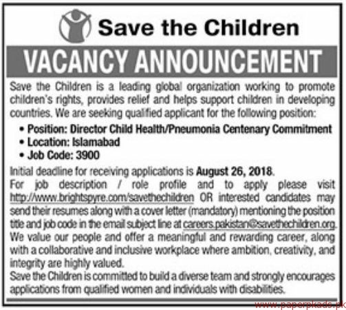 Save The Children Staff Required