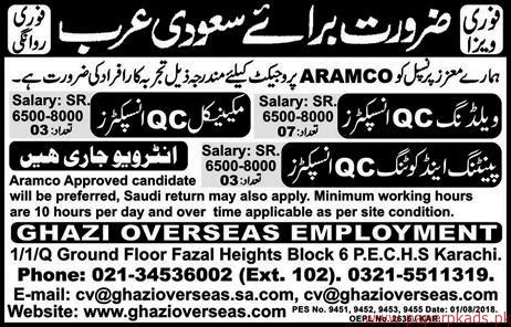 Welding QC Inspector and Other Jobs