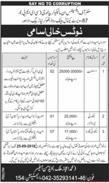 Assistant, Security Supervisors and Security Guards Jobs 2018 Latest