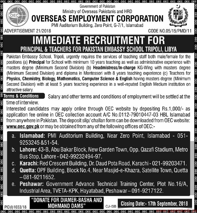 Ministry of Overseas Pakistanis Jobs 2018 Latest