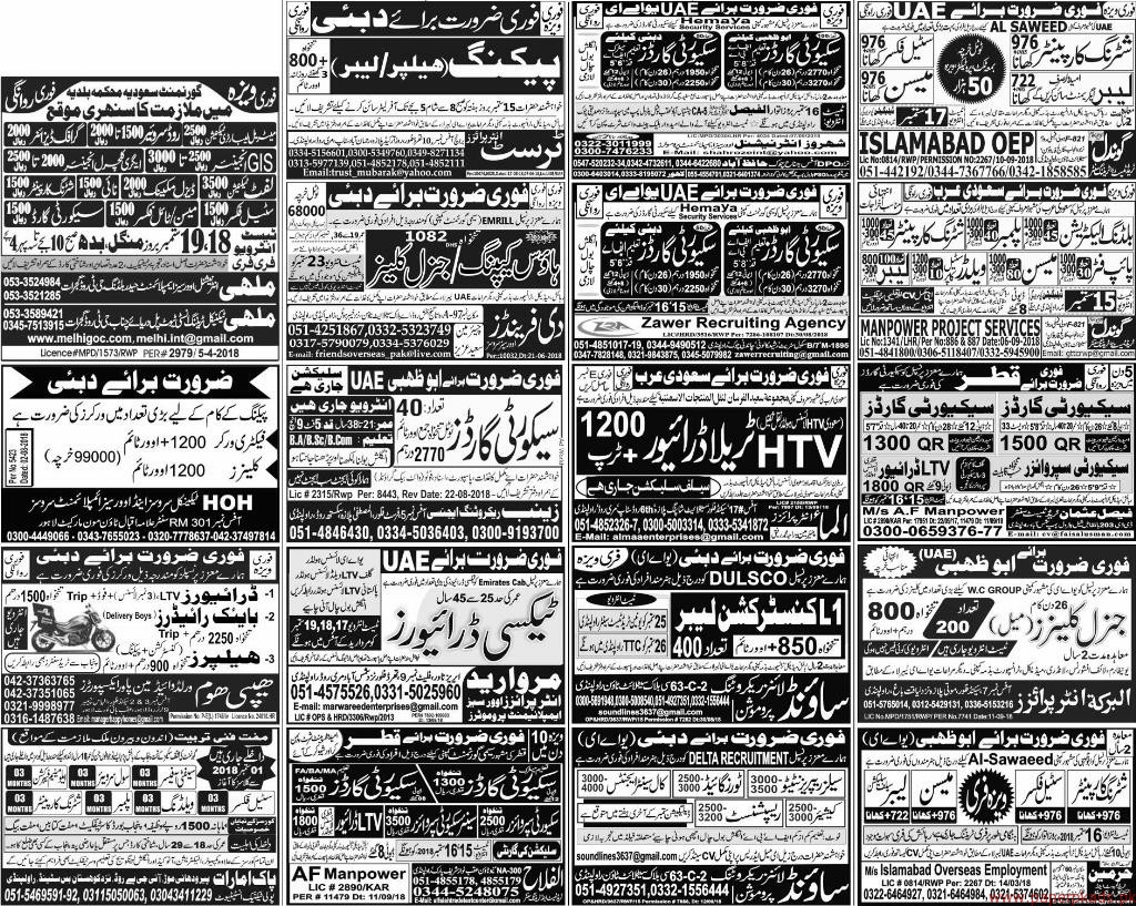 Multiple Jobs - Express Jobs ads 14 September 2018 Latest