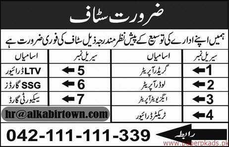 Operators Drivers Security Guards Jobs 2018 Latest