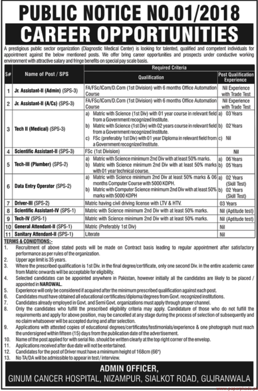 Prestigious Public Sector Organization Jobs 2018 Latest - 1