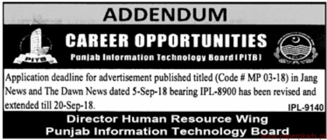 Punjab Information Technology Board Jobs 2018 Latest