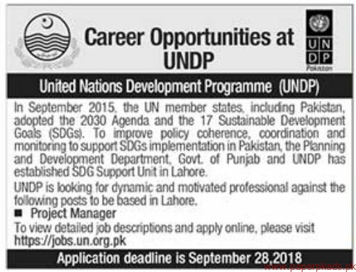 United Nations Development Programme UNDP Jobs 2018 Latest