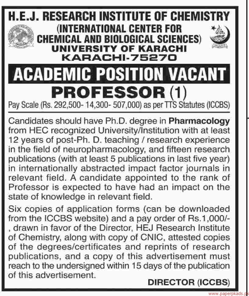 University of Karachi Jobs 2018 Latest 2