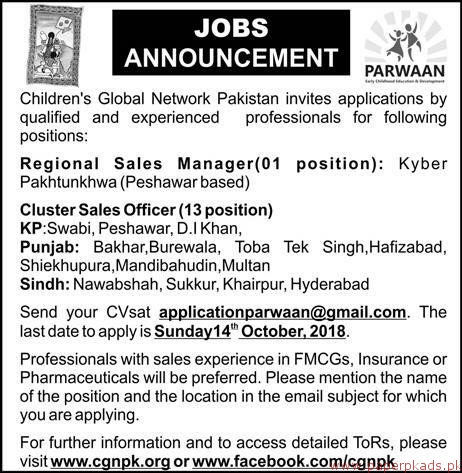 Childrens Global Network Pakistan Jobs 2018 Latest