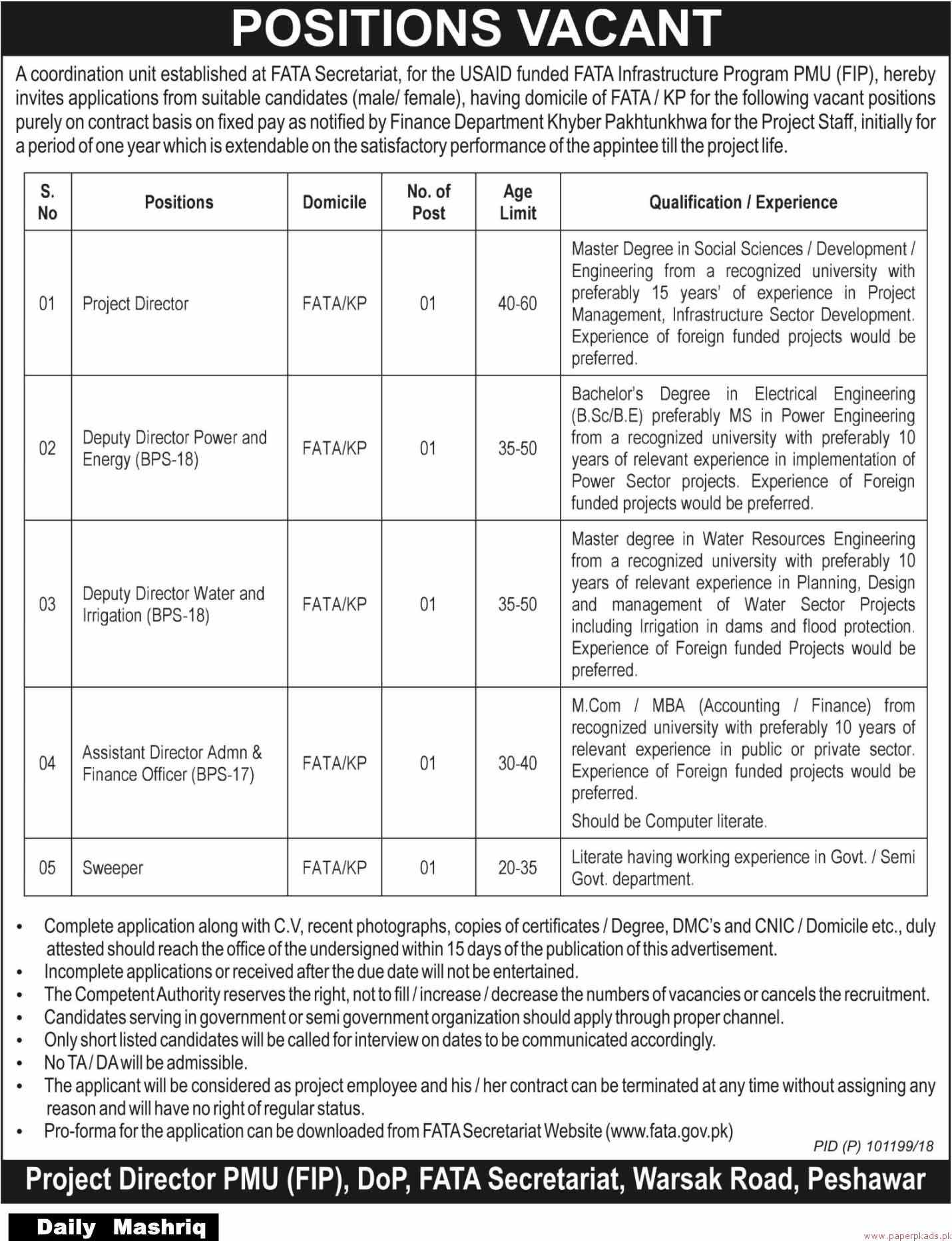 Coordination Unit Jobs 2018 Latest