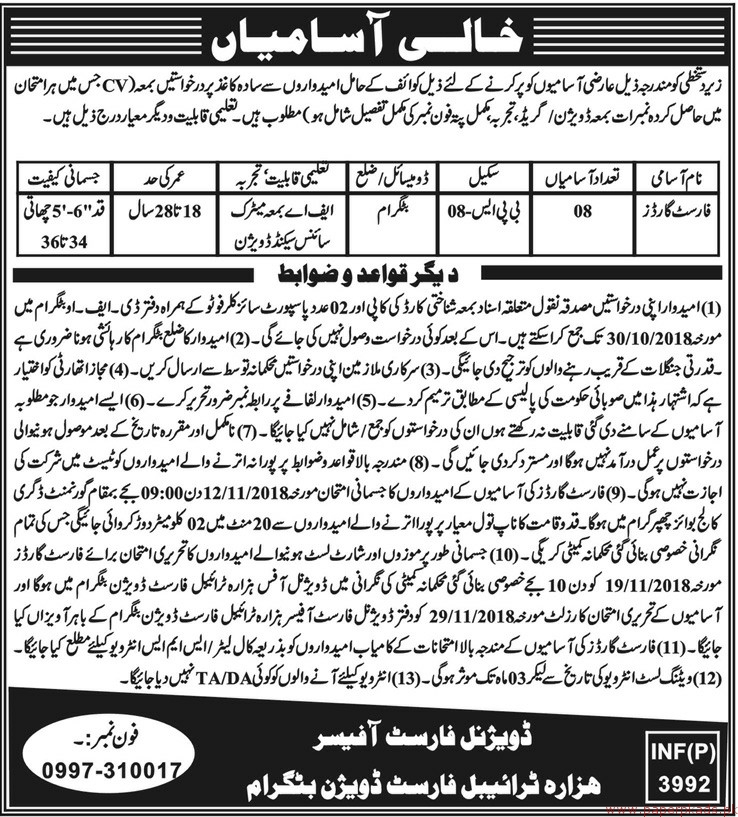 Forest Department Jobs 2018 Latest - 2