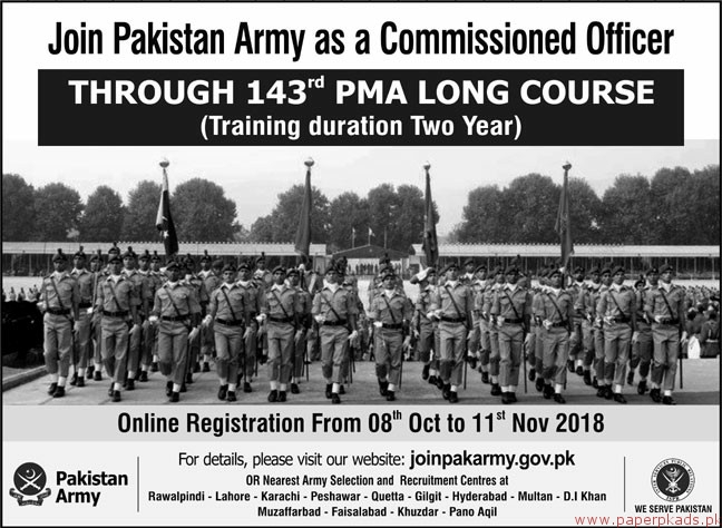 Join Pakistan Army Jobs 2018 Latest