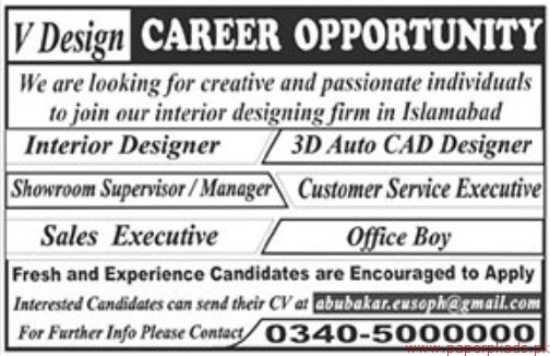Interior Designing Firm Jobs 2018 Latest