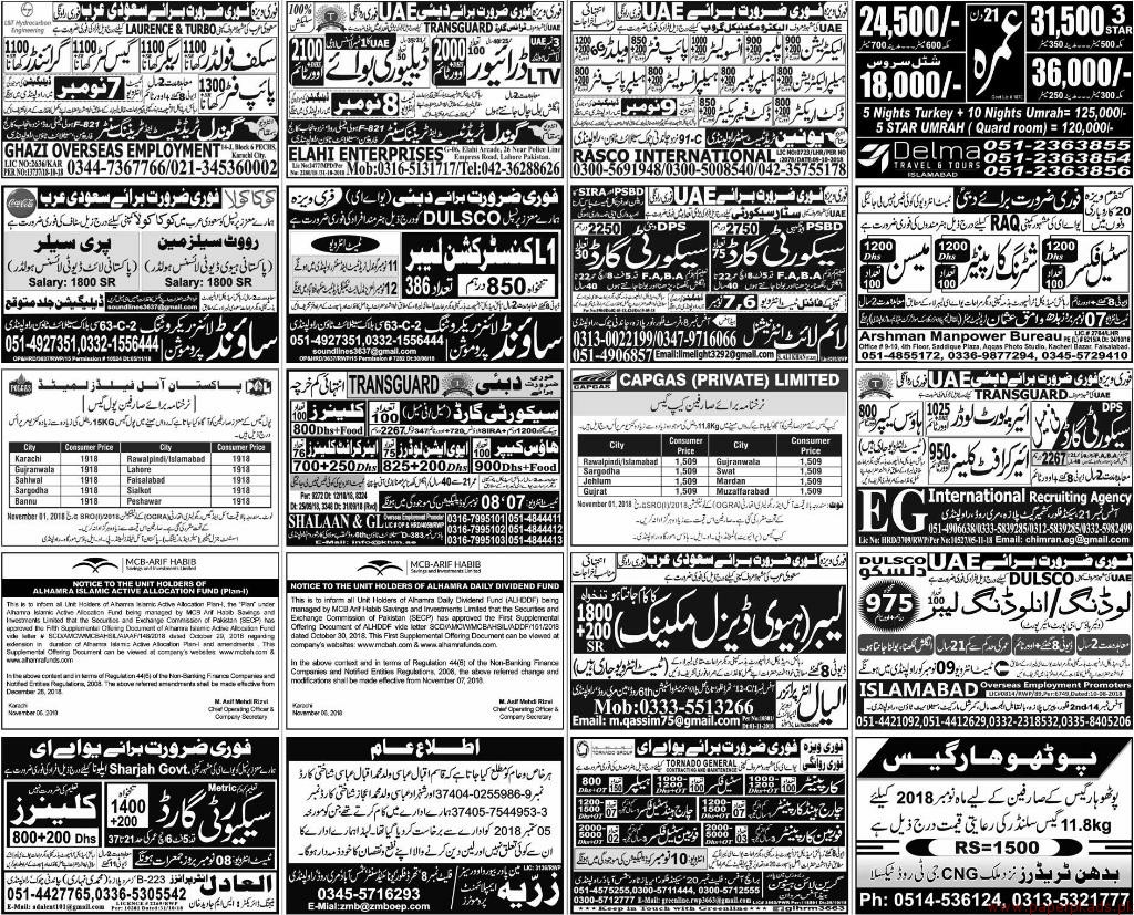 Multiple Jobs - Express Jobs ads 06 November 2018 Latest