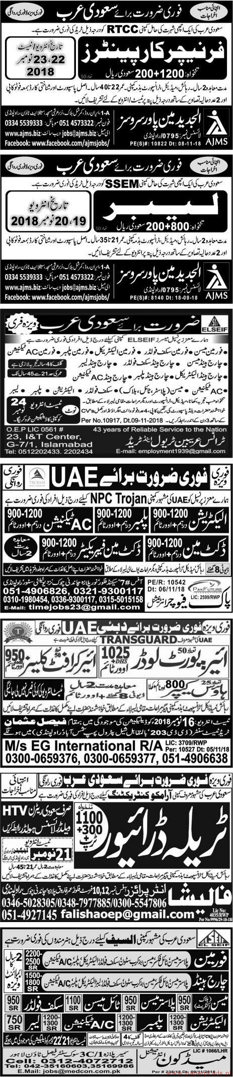 Multiple Jobs - Page 3 - Express Newspaper Jobs 16 November 2018