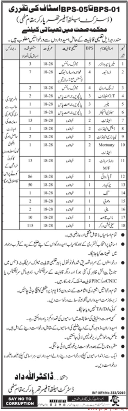 Health Department Jobs 2019 LatestHealth Department Jobs 2019 Latest