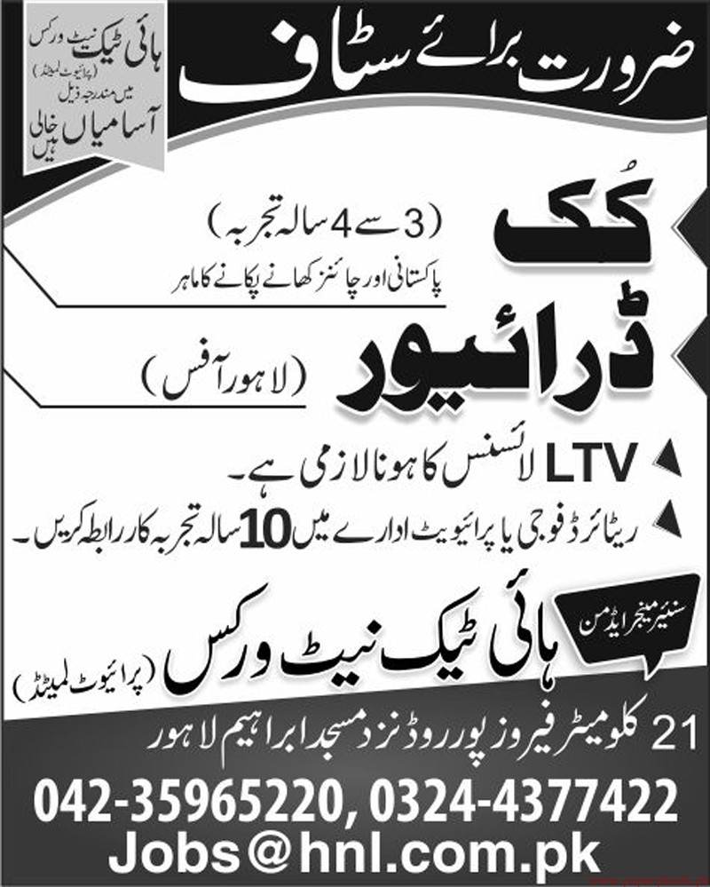 High Tech Networks Private Limited Jobs 2019 Latest