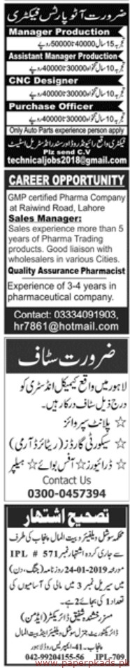 Latest Jang Newspaper Jobs 27 January 2019