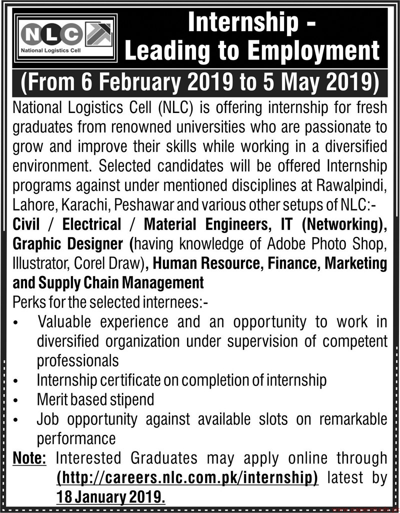 National Logistic Cell (NLC) Jobs 2019 Latest
