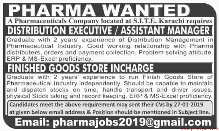 Pharmaceuticals Company Jobs 2019 Latest
