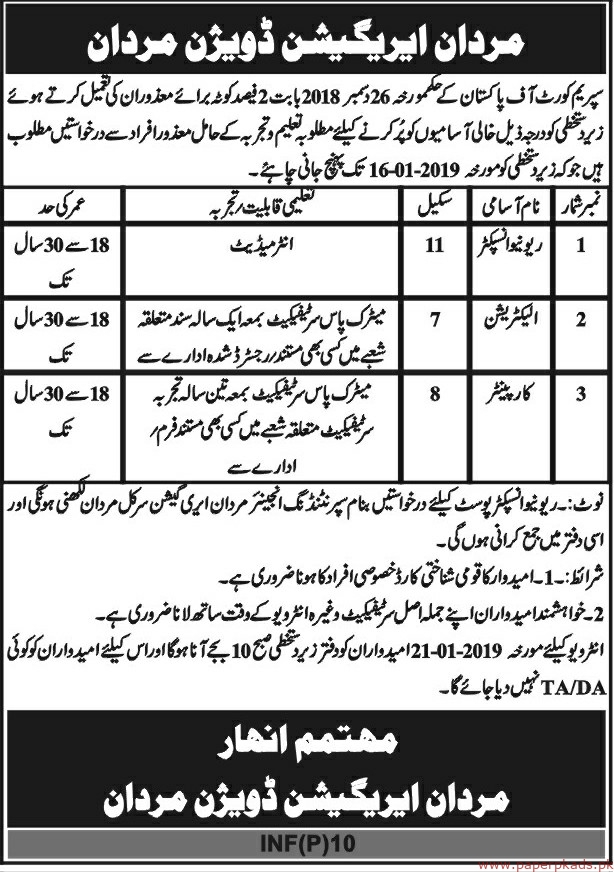 Supreme Court of Pakistan Jobs 2019 Latest