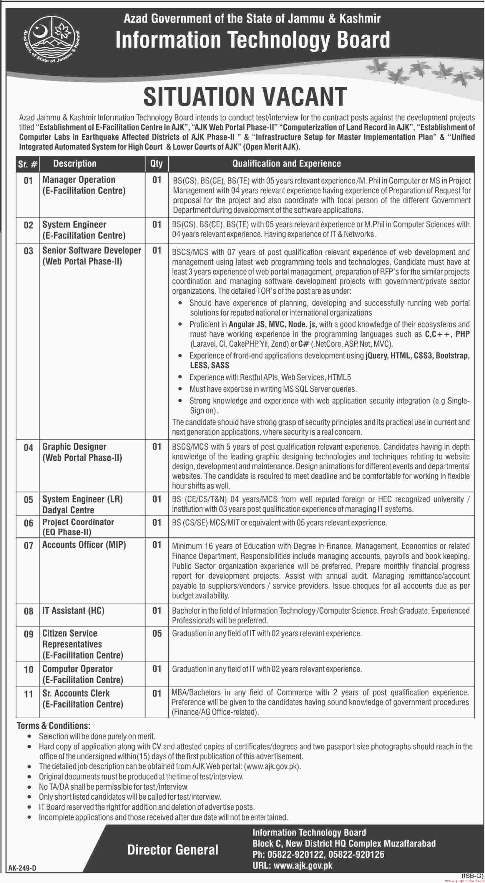 Information Technology Board Jobs 2019 Latest