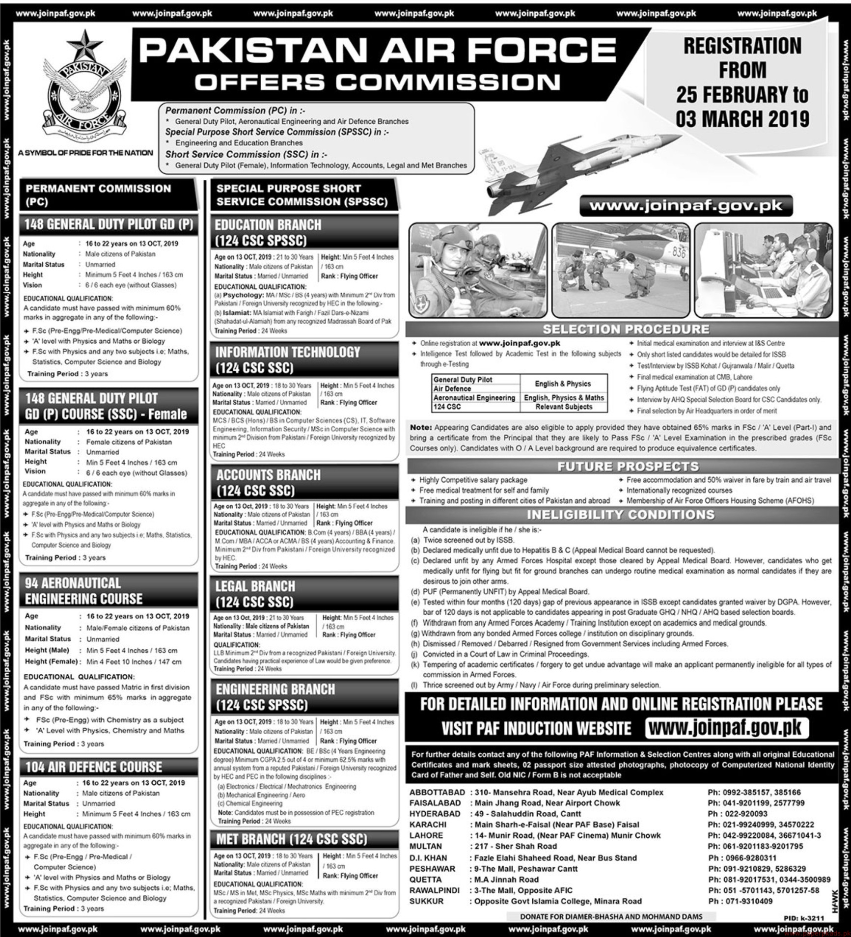 Join PAF Jobs 2019 Latest