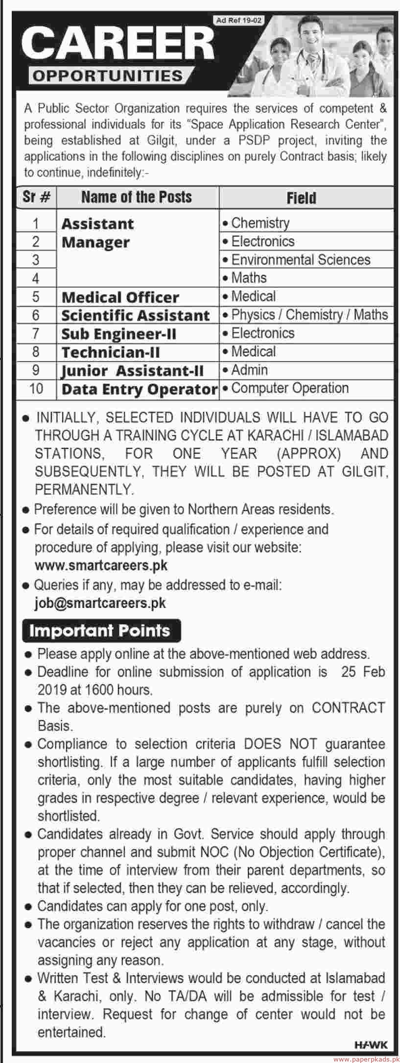 Latest Jobs in Public Sector Organization 2019