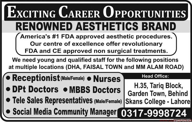 Private Sector Jobs Lahore 2019 Latest